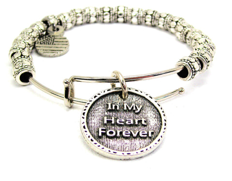 In My Heart Forever Metal Beaded Bracelet