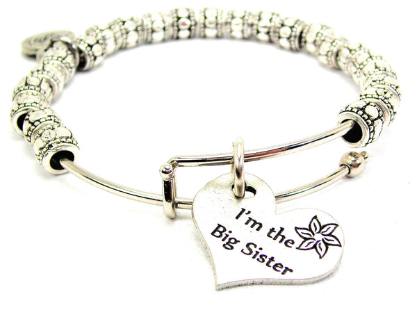 I'm The Big Sister Metal Beaded Bracelet