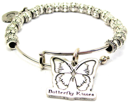 Butterfly Kisses Metal Beaded Bracelet