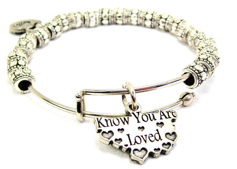 Know You Are Loved Metal Beaded Bracelet