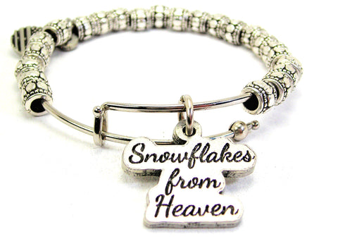Snowflakes From Heaven Metal Beaded Bracelet