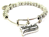 Volleyball Aunt Metal Beaded Bracelet