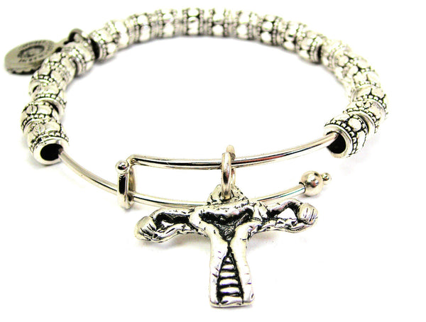 Female Reproductive System Metal Beaded Bracelet