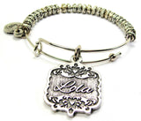 Lola Victorian Scroll Metal Beaded Bracelet