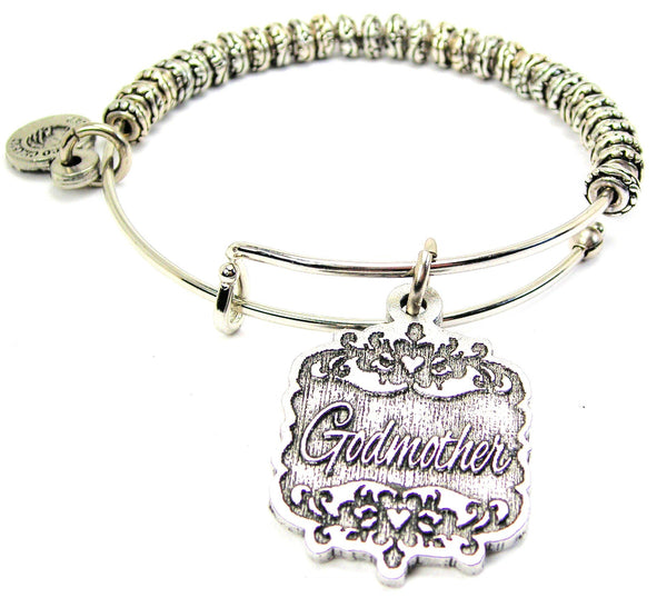 Godmother Victorian Scroll Metal Beaded Bracelet