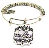 Mae Victorian Scroll Metal Beaded Bracelet
