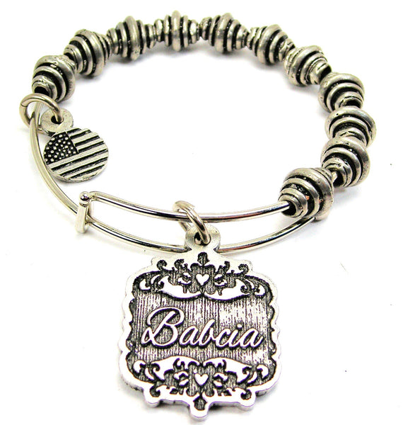 Babcia Victorian Scroll Spiral Beaded Bracelet