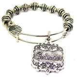 Godmother Victorian Scroll Spiral Beaded Bracelet