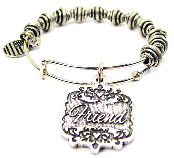 Friend Victorian Scroll Spiral Beaded Bracelet