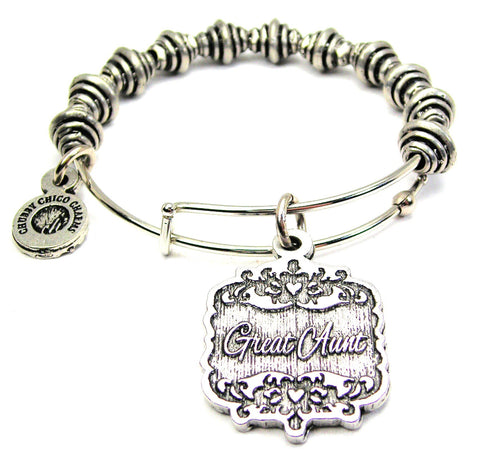 Great Aunt Victorian Scroll Spiral Beaded Bracelet