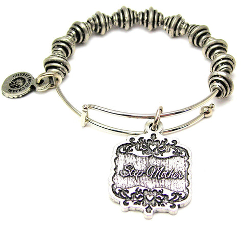 Step-Mother Victorian Scroll Spiral Beaded Bracelet