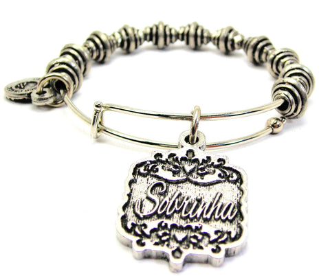 Sobrinha Victorian Scroll Spiral Beaded Bracelet