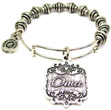 Oma Victorian Scroll Spiral Beaded Bracelet