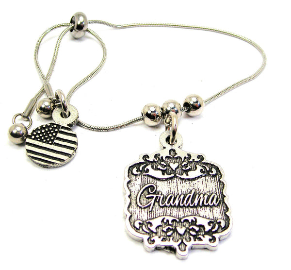 Grandma Victorian Scroll Slide Chain Bracelet