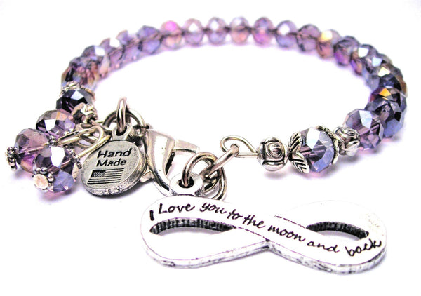 Infinity I Love You To The Moon And Back Splash of Color Crystal Bracelet