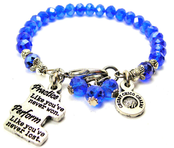 Practice Like You've Never Won Perform Like You've Never Lost Splash Of Color Crystal Bracelet
