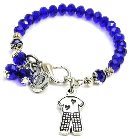 Comfy Pajamas With Hearts Splash Of Color Crystal Bracelet