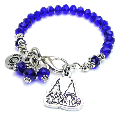 Yard Gnomes In Love Splash Of Color Crystal Bracelet