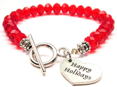Holiday Bracelets,  Holiday Jewelry,  Expression Jewelry,  Expression Bracelets,  Happy Holidays,  Crystal Bracelet,  Toggle Bracelet,  Christmas Bracelet