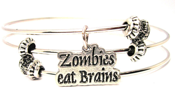 Zombies Eat Brains Triple Style Expandable Bangle Bracelet