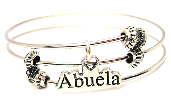 Abuela Triple Style Expandable Bangle Bracelet