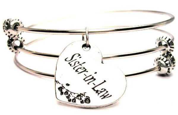 Family Bangles, Family Bracelets, Family Jewelry, I Style_Love my sister in law bracelet