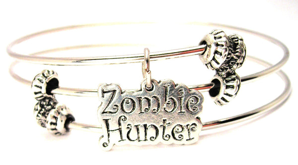 Zombie Hunter Triple Style Expandable Bangle Bracelet