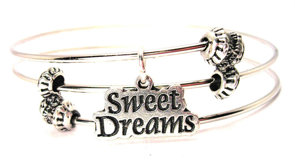 Sweet Dreams Triple Style Expandable Bangle Bracelet