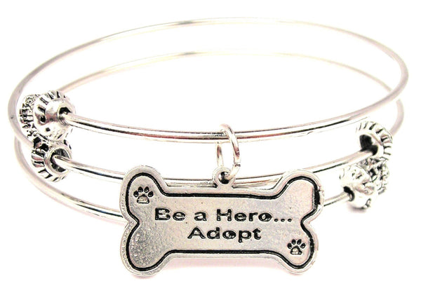 Be A Hero… Adopt Triple Style Expandable Bangle Bracelet