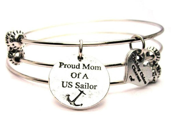 Military Bangle, Military Jewelry, Military Bracelet, Military Mom Jewelry, Military Mom Bracelet, Gift for Military Mom