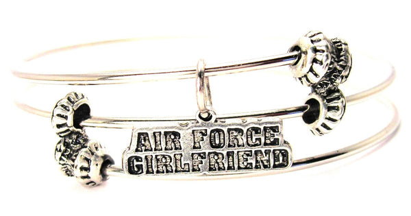 Air Force Girlfriend Triple Style Expandable Bangle Bracelet
