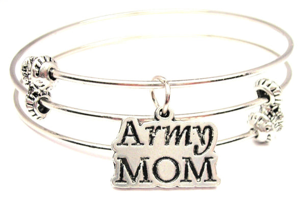 Army Mom Triple Style Expandable Bangle Bracelet