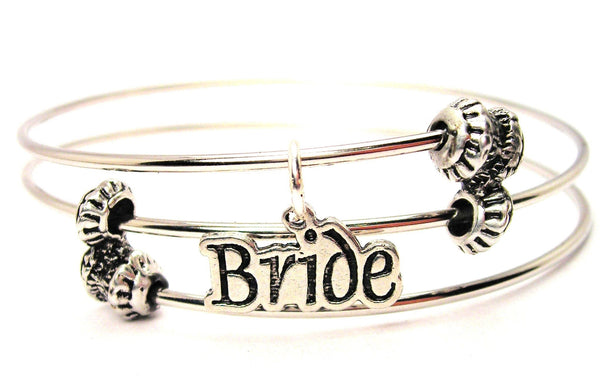 Bride Triple Style Expandable Bangle Bracelet