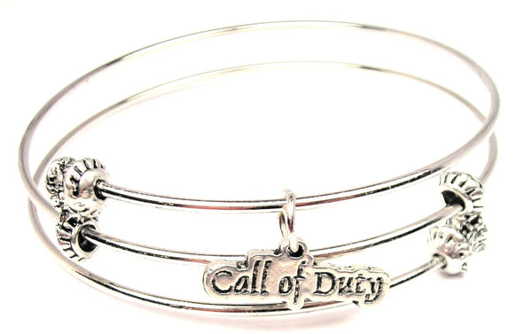 Call Of Duty Triple Style Expandable Bangle Bracelet