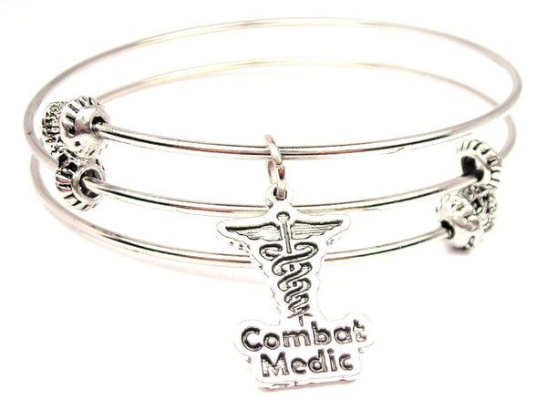 Combat Medic Triple Style Expandable Bangle Bracelet