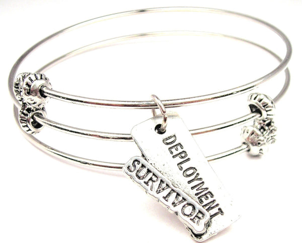 Deployment Survivor Triple Style Expandable Bangle Bracelet