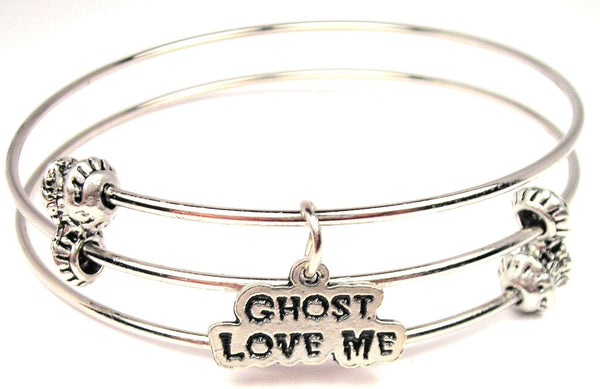 Ghosts Love Me Triple Style Expandable Bangle Bracelet