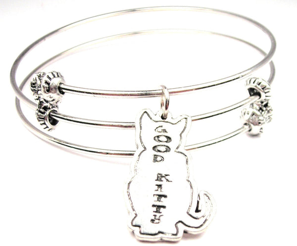 Good Kitty Triple Style Expandable Bangle Bracelet