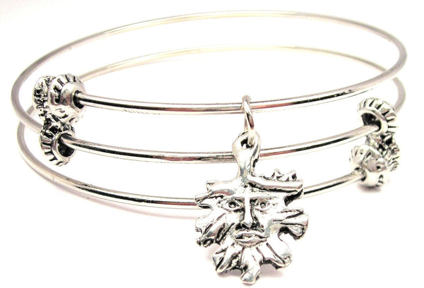 Green Man Style 2 Triple Style Expandable Bangle Bracelet