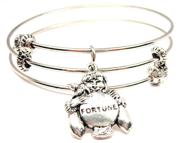 Gypsy Fortune Teller Triple Style Expandable Bangle Bracelet