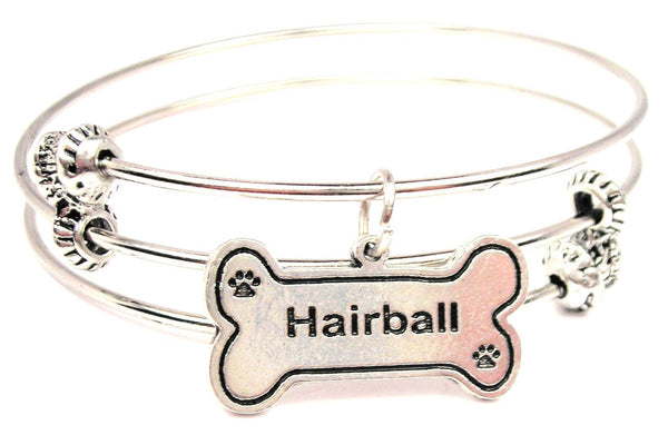 Hairball Triple Style Expandable Bangle Bracelet