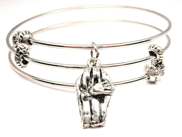 Hand Coming Out Of Coffin Triple Style Expandable Bangle Bracelet