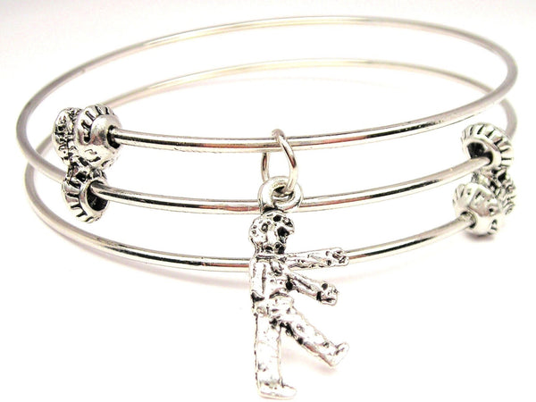 Little Walking Zombie Triple Style Expandable Bangle Bracelet