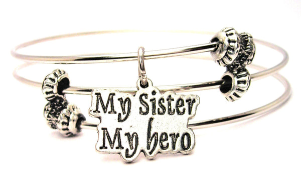 My Sister My Hero Triple Style Expandable Bangle Bracelet