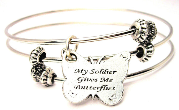 Military Bangle, Military Jewelry, Military Bracelet, Military Wife Jewelry, Military Wife Bracelet, Gift for Military Wife