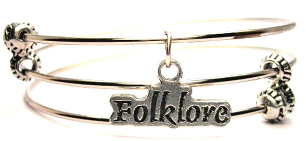 Folklore Triple Style Expandable Bangle Bracelet