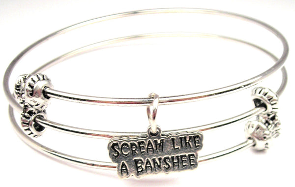 Scream Like A Banshee Triple Style Expandable Bangle Bracelet