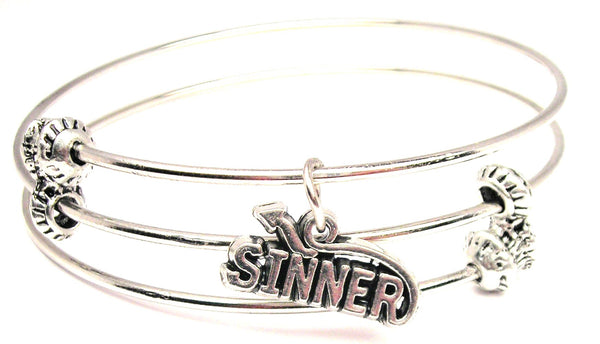 Sinner With Tail Triple Style Expandable Bangle Bracelet