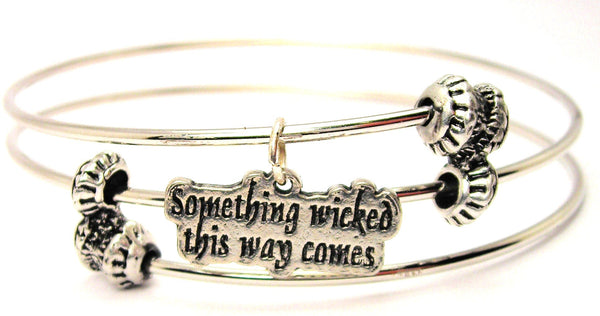 Something Wicked This Way Comes Triple Style Expandable Bangle Bracelet