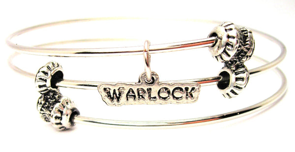 Warlock Triple Style Expandable Bangle Bracelet